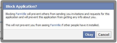 Block Facebook Application