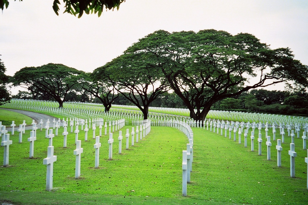 Graves at the Manila American Cemetery and Memorial
