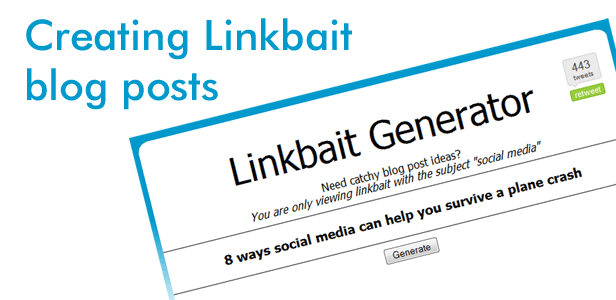 Creating linkbait blog posts