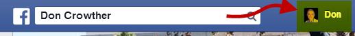 Facebook Profile Button