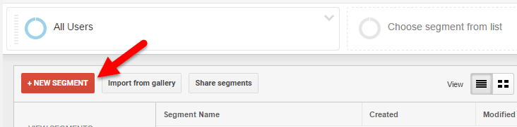 How to create segments in Google Analytics