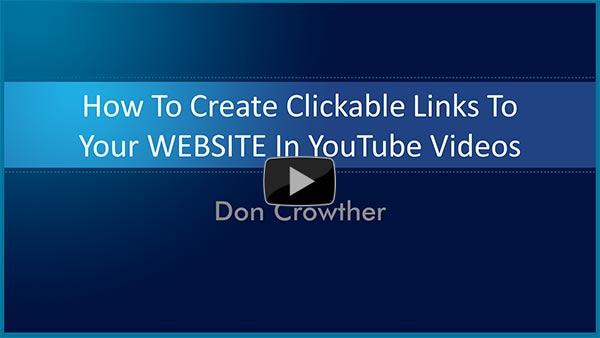 Clickable links in YouTube Videos