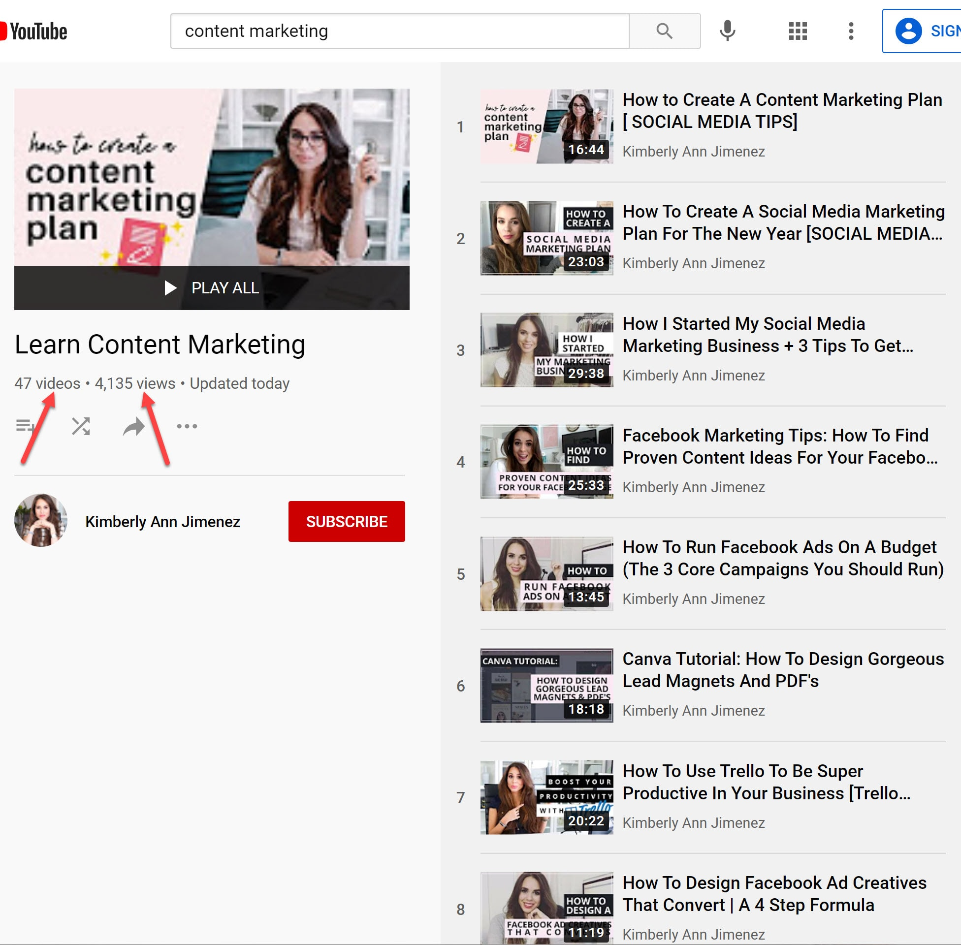 Complete Content marketing playlist