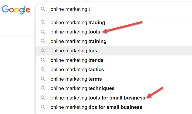 Online Marketing T Content ideas