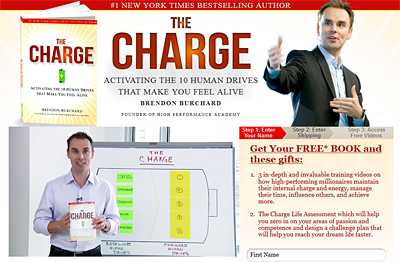 Get your free copy of Brendon Burchard's The Charge: Activating the 10 Human Drives that Make You Feel Alive here