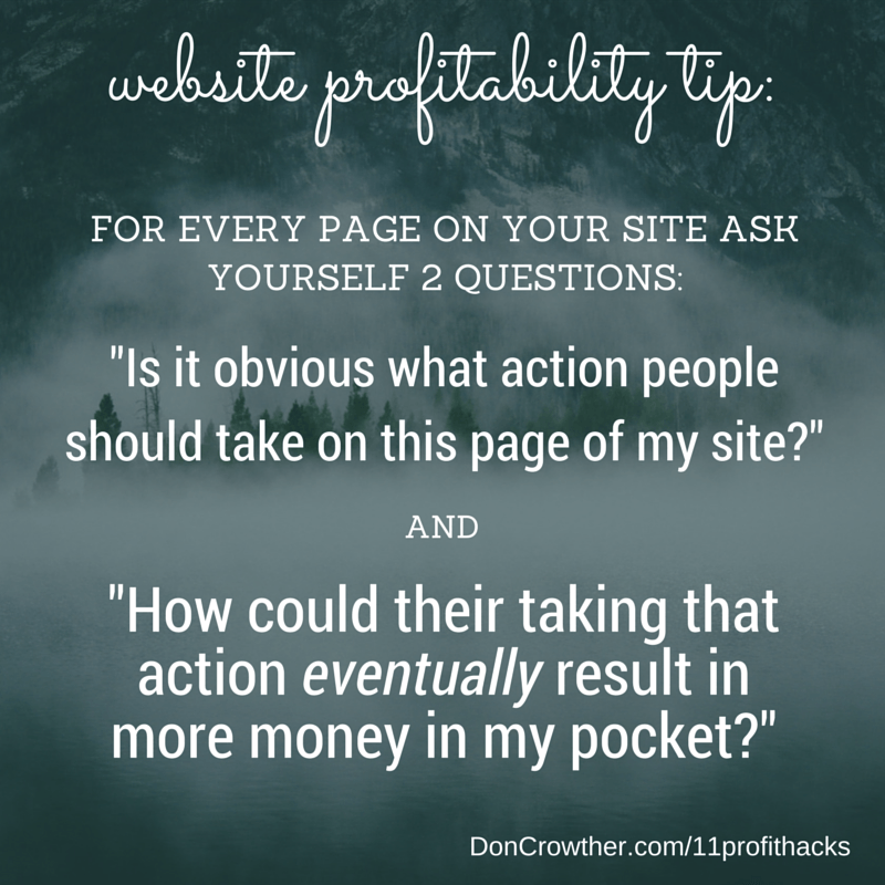 Website Profitability Tip https://doncrowther.com/featured/11-killer-profit-hacks