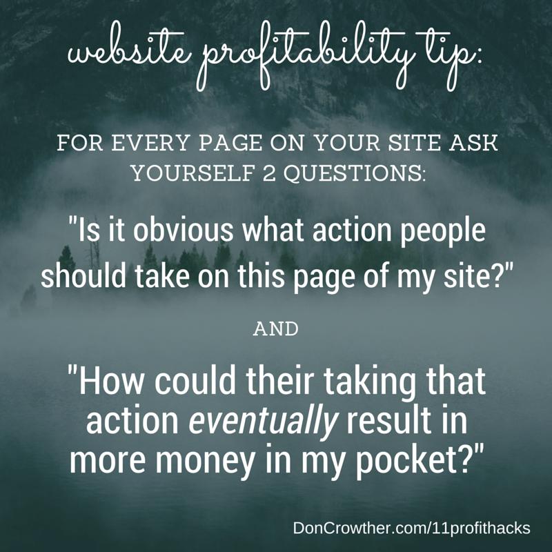 Website Profitability Tip https://doncrowther.com/featured/11-killer-profit-hacks